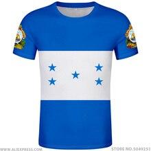 هندوراس t قميص diy الشحن مخصص اسم عدد قبعة تي شيرت الأمة الأعلام hn البلاد طباعة الصورة شعار هندوراس الإسبانية الملابس