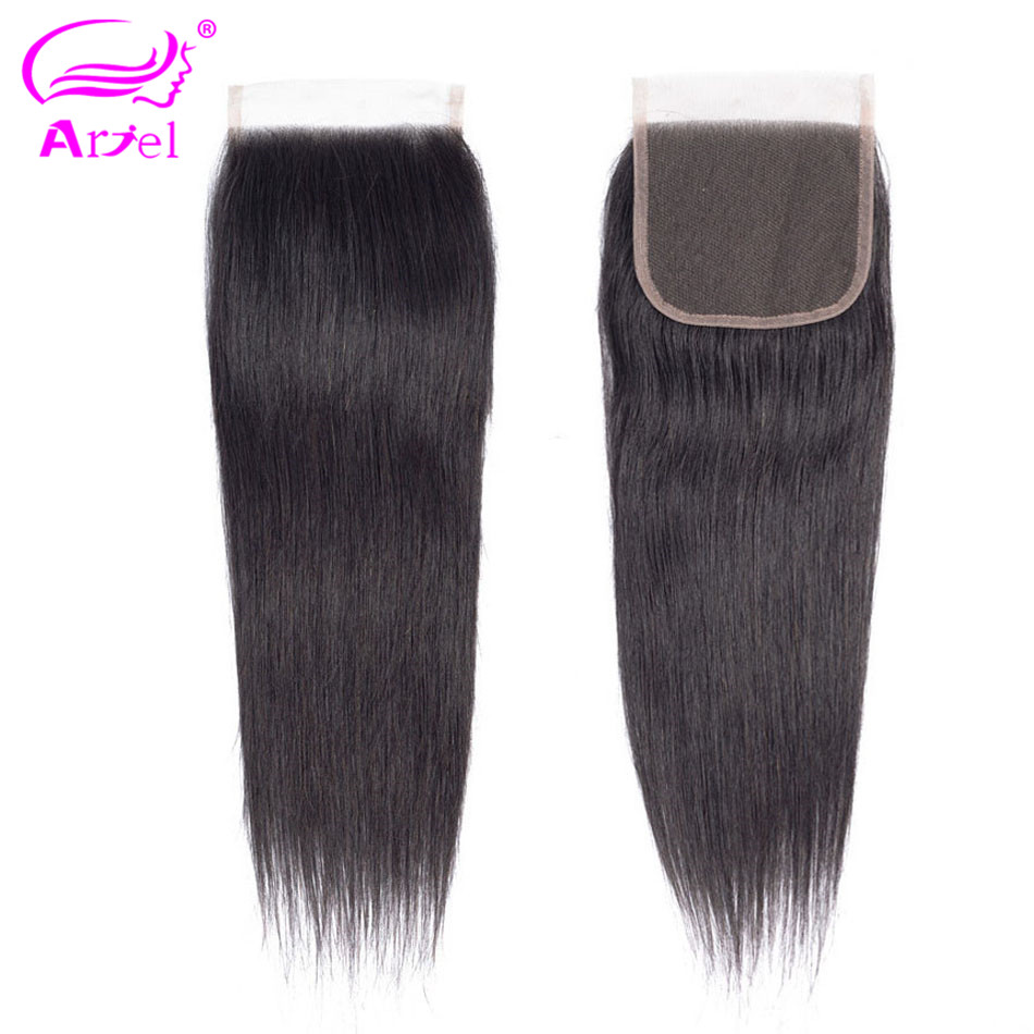 Ariel Natural-Color Lace Closure Non-Remy-Hair Straight 100%Human-Hair Malaysian 8-22inch