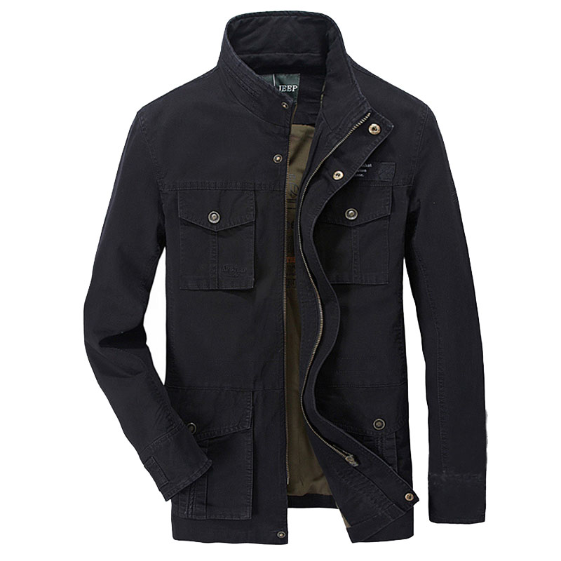 6c71d54df85 Europe Loose Outdoor Military Style Jacket AFS JEEP men casual Brand Black  coats 100%cotton loose jacket khaki coat good quality-in Jackets from Men s  ...