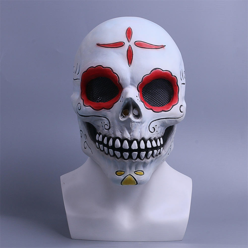 Cospty Tag Der Toten Carnaval Dia De Los Muertos Overlord Halloween Horror Scary Pu Schaum Brennen Mann Death Ritter Schädel Maske Neuheiten Und Spezialanwendung