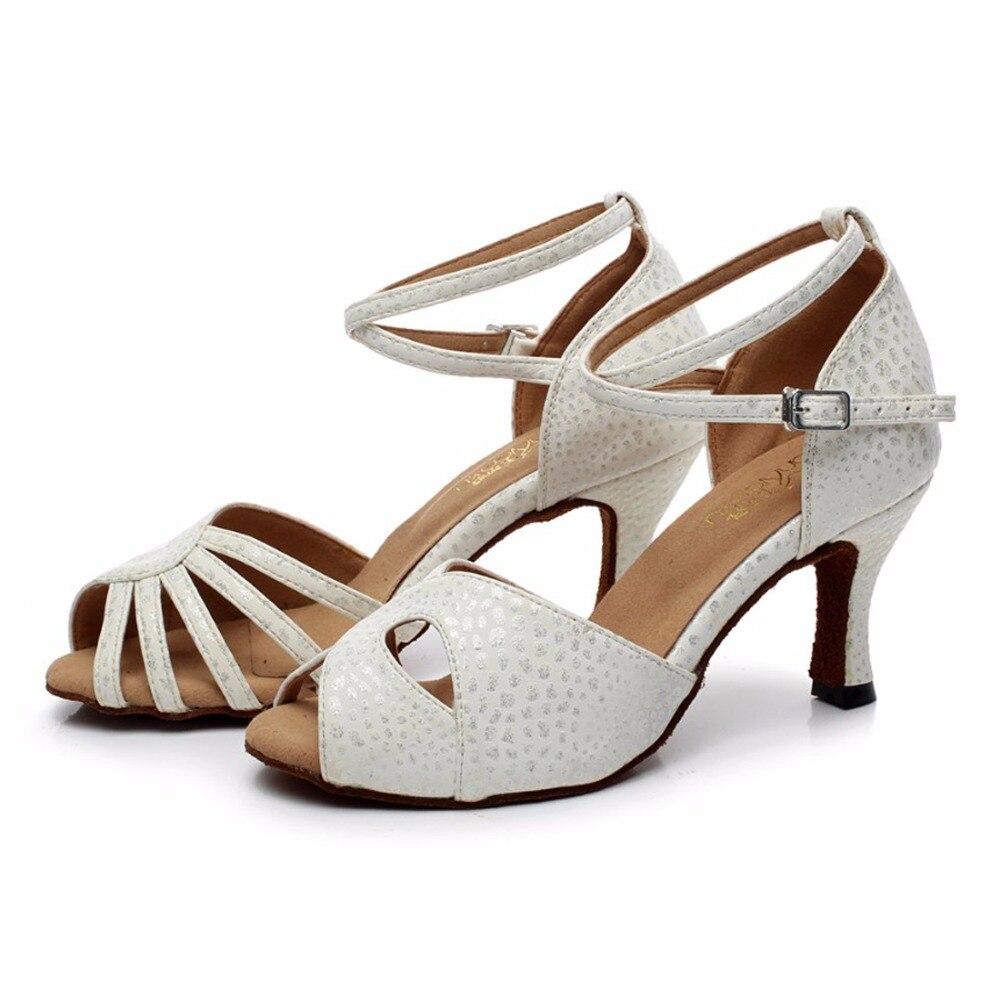 Women Ballroom Latin Dance Shoes Female Salsa Social Party Dance Shoes Modern Tango Shoes Soft Sole 1602