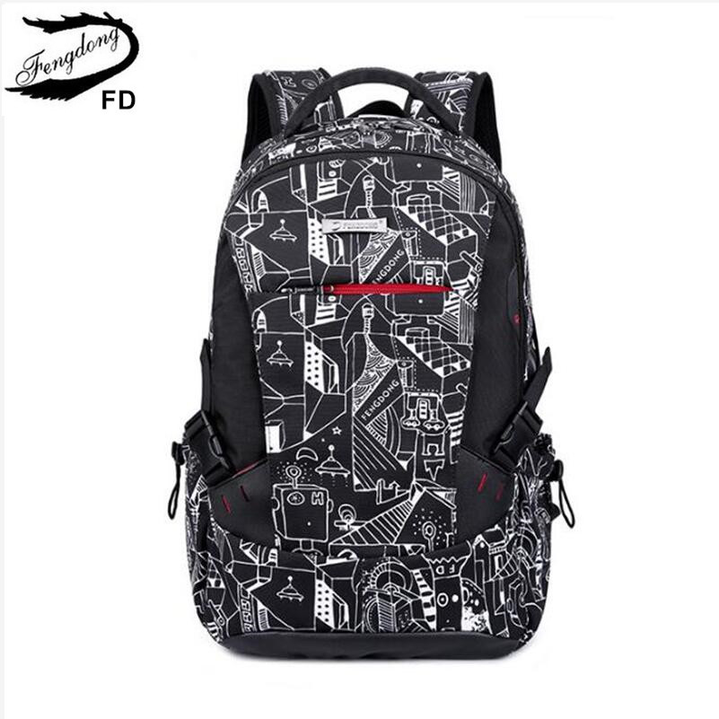 FengDong school backpacks for boys children school bags student notebook  backpack for boy laptop bag 15.6 new arrival 2018 gift 8573b325230b7