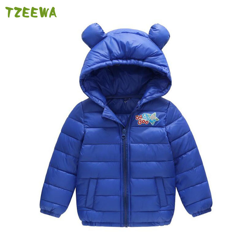 2017 Children Down & Parkas Winter Kids Outerwear Boys Casual Warm Hooded Jacket For Boys Canday Color Girls Light Down Coats children winter coats jacket baby boys warm outerwear thickening outdoors kids snow proof coat parkas cotton padded clothes