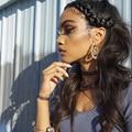 360 Кружева Фронтальная Парик Предварительно Сорвал 180% Полный Шнурок Человеческих Волос парики Для Чернокожих Женщин Бразильский Объемная Волна Фронта Шнурка Человеческих Волос парики