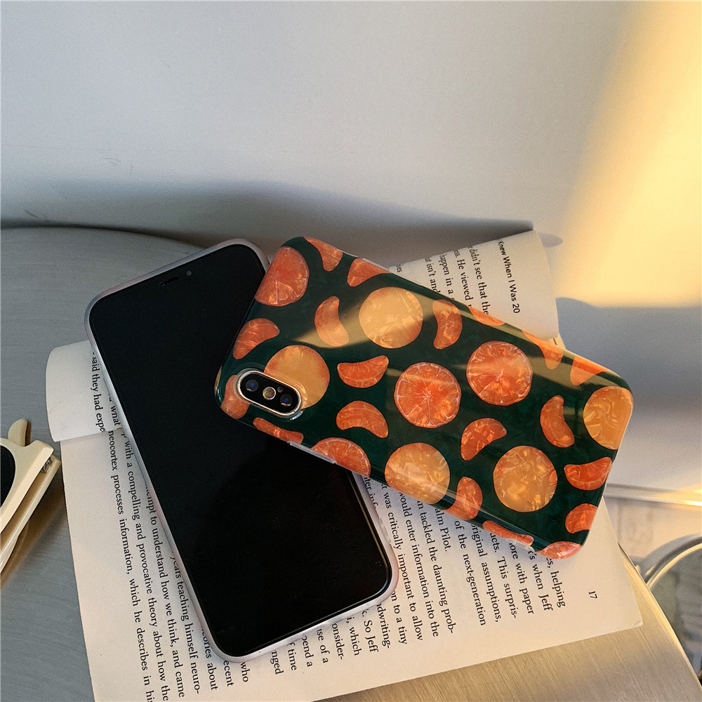 Ins coque Grain téléphone etui téléphone huawei P10 P20 Pro Nova 2 S 3 3i Orange coque Mobile souple pour Mate20 20Pro Honor 9 10 coque Simple - 5