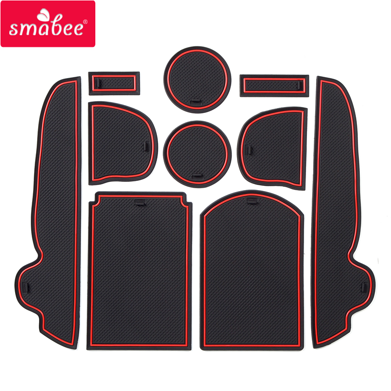 Smabee Gate Slot Mat For Toyota RAV4 2006 ~ 2012 XA30 RAV 4 2007 2008 2009 2010 2011 Cup Holders Non-slip Mats Accessories 10PCS