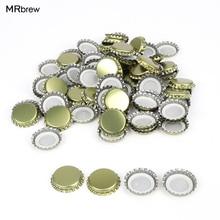 100 Pcs/lot Beer Bottle Cap Crown Lids For Homebrew Bar Tools Gold/Silver/Black Capping Bottling Caps