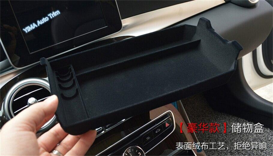 Lapetus Accoudoir Milieu De Stockage boîte bento Téléphone Plateau Couverture idéal pour Mercedes-Benz Classe C W205 2015-2018 Accessoires