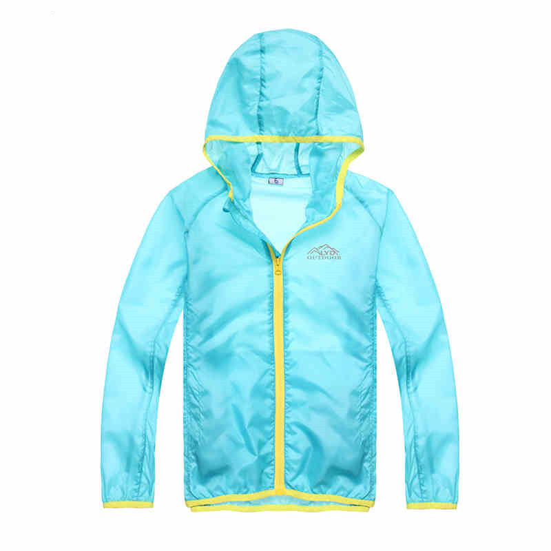 Buy 4color outdoor kids jacket waterproof anti uv coat children thin skin - Protect clothes colors washing ...