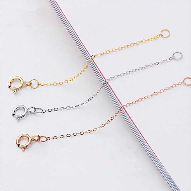 Extension Chain Silver Necklace Pendant Plated Extender Bracelet Connector DIY