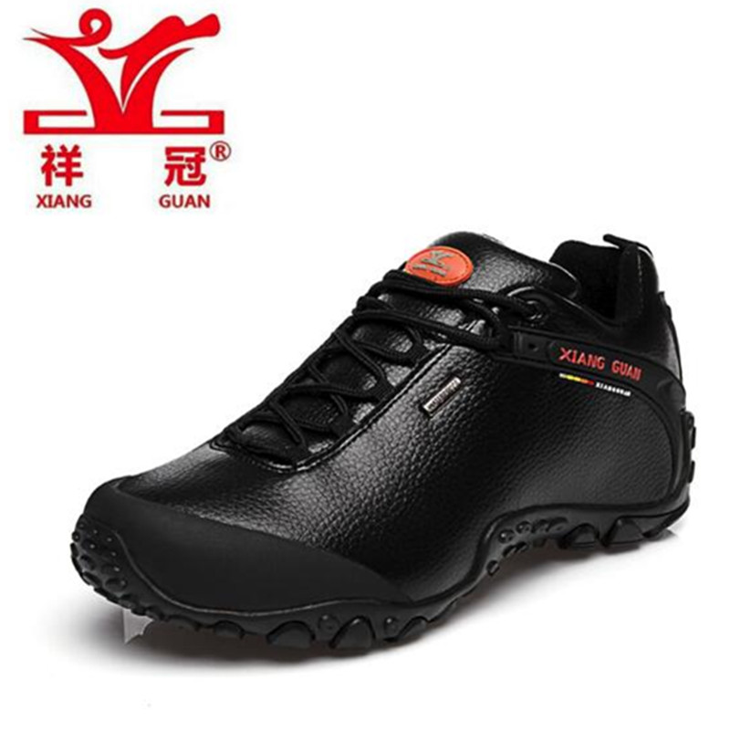 XIANG GUAN Outdoor Hiking Shoes 2017 Men sneakers Women Genuine Leather Climbing Shoes Men sports Shoes trekking boots 81996 women outdoor hiking shoes professional breathable new design women climbing shoes brand genuine leather sports shoes bd8061