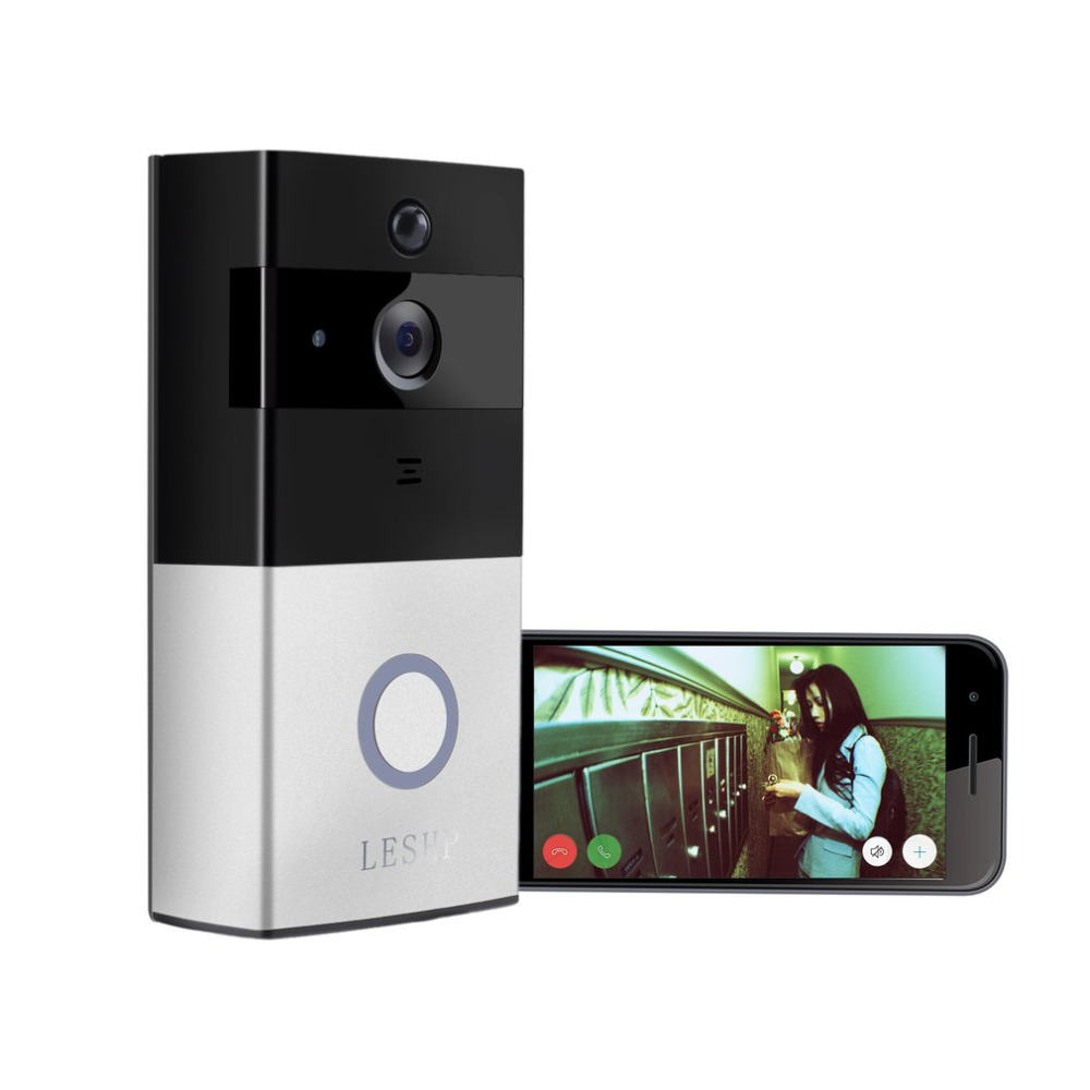 1080P Wireless WiFi Battery Ring Video Doorbell HD 2.4G Phone Remote PIR Motion Two-way Talk Home Alarm Security 1080p hd video doorbell wireless wifi battery ring infrared led 2 4g phone remote pir motion two way talk home alarm security