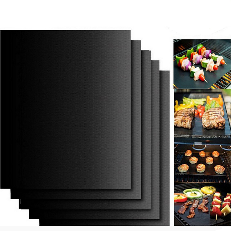 New Heat Resistant BBQ Grill Mat Copper Bakeware Mat Barbecue Roast Sheet Portable Easy Clean Grill Pad BBQ Tool Factory Price