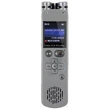 8 GB Grabadora de Voz Digital PCM Lineal Presentador Control Remoto Reproductor de MP3