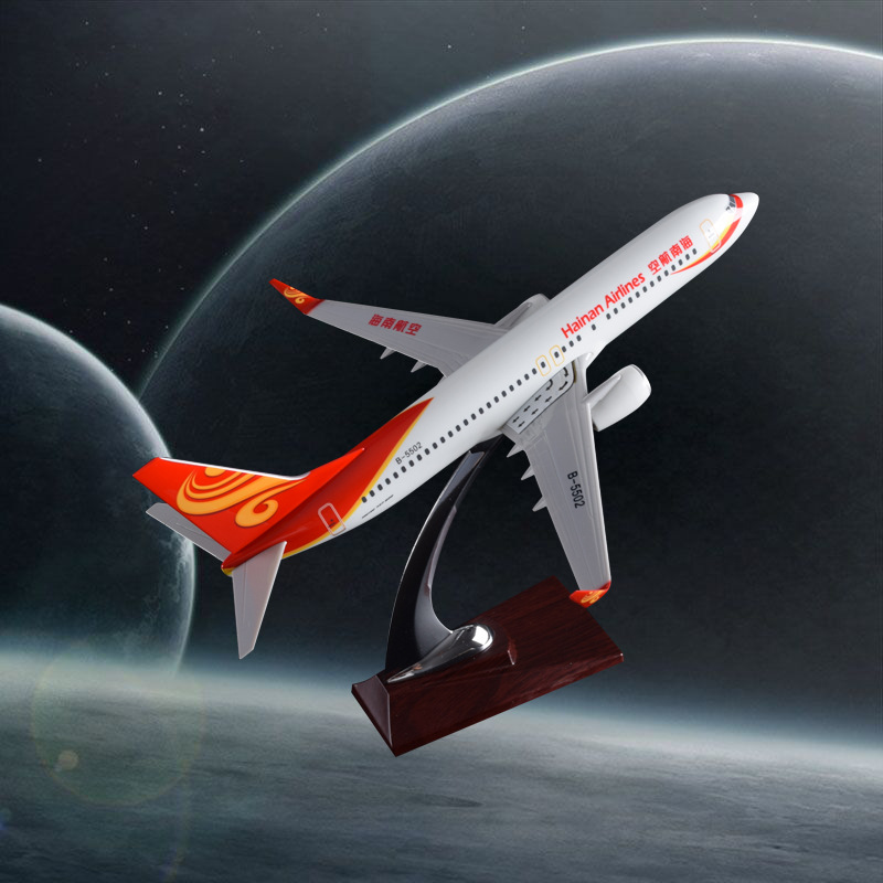 32cm Resin Aircraft Model B737 Hainan Airlines Plane Model Boeing 737 Airplane Airways Aviation Model Stand Craft China Hainan spike wings xx4391 jc china eastern airlines b 5902 a330 200 green 1 400 commercial jetliners plane model hobby