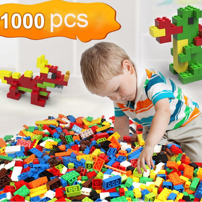 Blocks 2017 1000 Pcs Building Bricks Set City DIY Creative Brick Toys For Child Educational  D50 cheerlink zm 81 3mm neodymium iron diy educational toys set silver 81 pcs