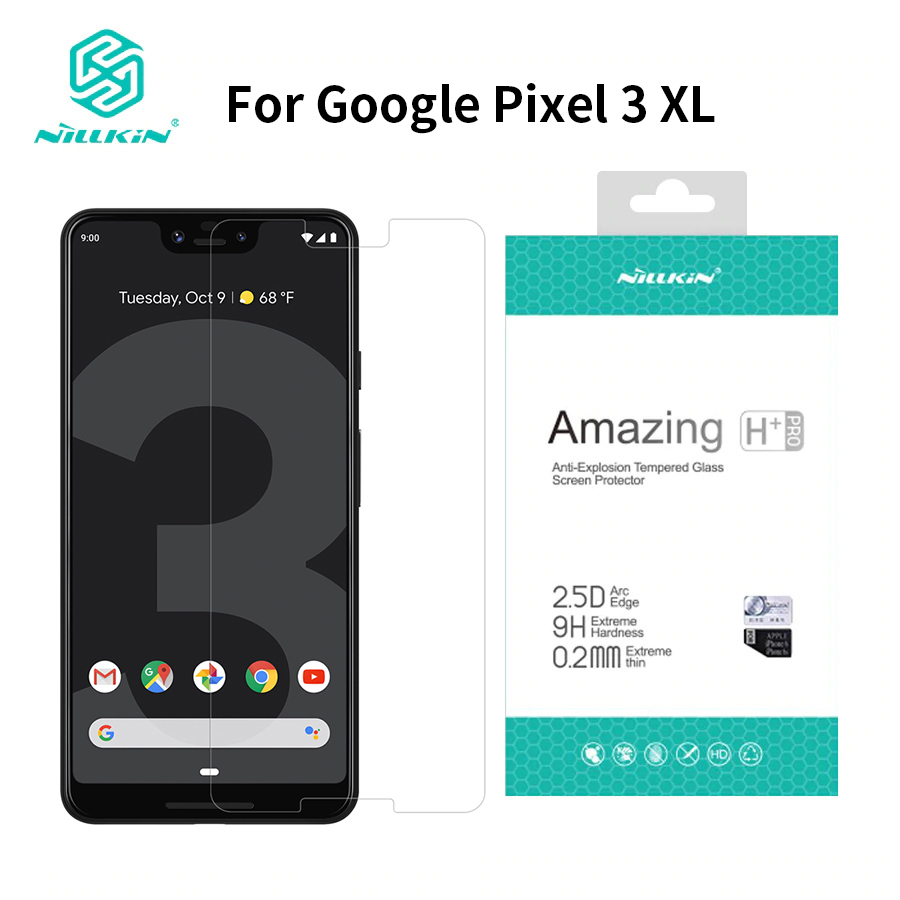 For Google Pixel 3 XL Screen Protector 6.3 inch NILLKIN Amazing H+PRO 9H Tempered Glass Protector for pixel 3xl for google pixeFor Google Pixel 3 XL Screen Protector 6.3 inch NILLKIN Amazing H+PRO 9H Tempered Glass Protector for pixel 3xl for google pixe