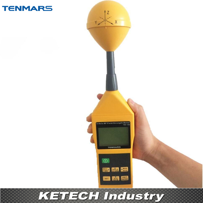 3 Axis Electromagnetic Radiation Detectors High Frequency Field Strength Meter Tester TENMARS TM-403 цена