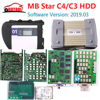 MB Star C3 / C4 SD Connect mb c3 supports 12V and 24V car and truck with NEC relay automatic diagnostic scanner and MB star HDD