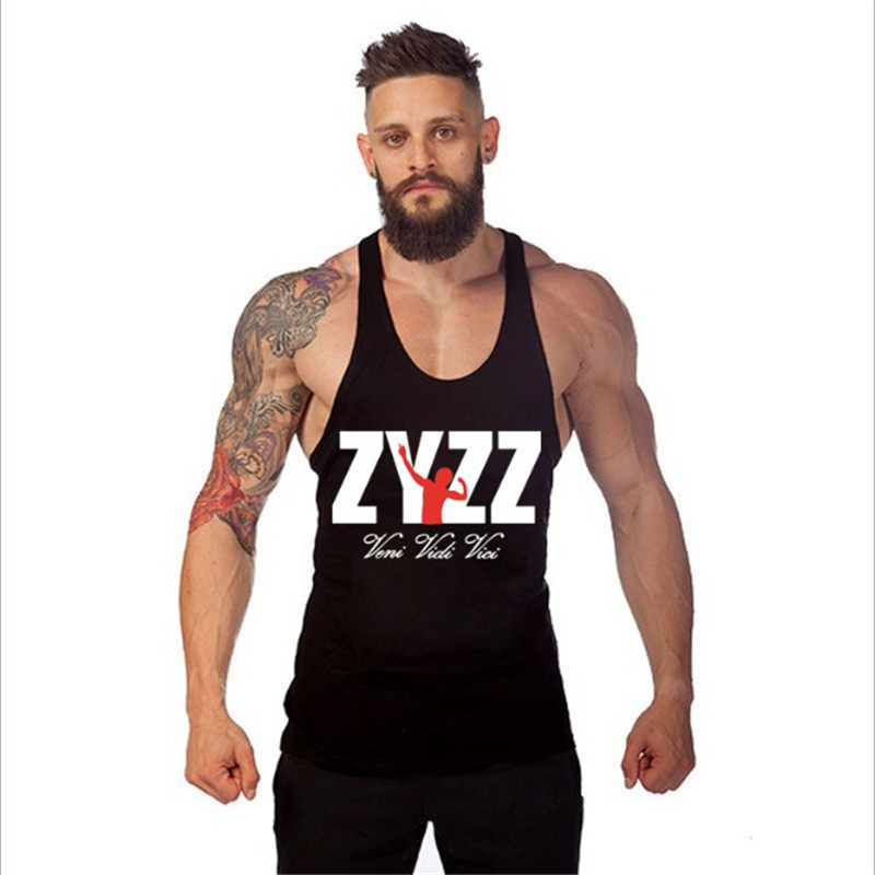 Friendly Zyzz Vest Men's Fitness Clothing Bodybuilder Men's Muscle Vest Cotton Single Fitness Sportswear Utmost In Convenience