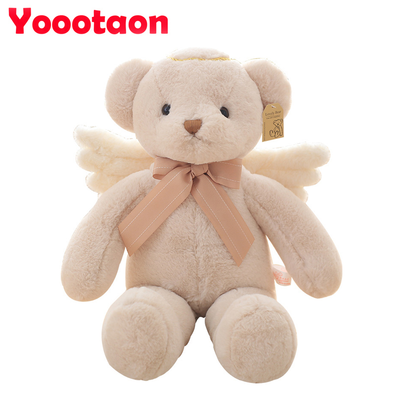 40cm High quality Cute teddy bear Angel stuffed doll Soft Kawaii Plush kids Toys for girl Christmas gifts 3 color fancytrader new style giant plush stuffed kids toys lovely rubber duck 39 100cm yellow rubber duck free shipping ft90122