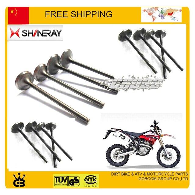 Shineray AX 1 1 piezas del motor 250cc motor de la válvula de entrada de la válvula de salida de la sello de aceite de la motocicleta X2 X2X xy250gy accesorios envío gratis