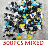 500PCS Mixed Auto Car Bumper Clips Retainer Fastener Rivet Set For Ford Flex Focus Rs St