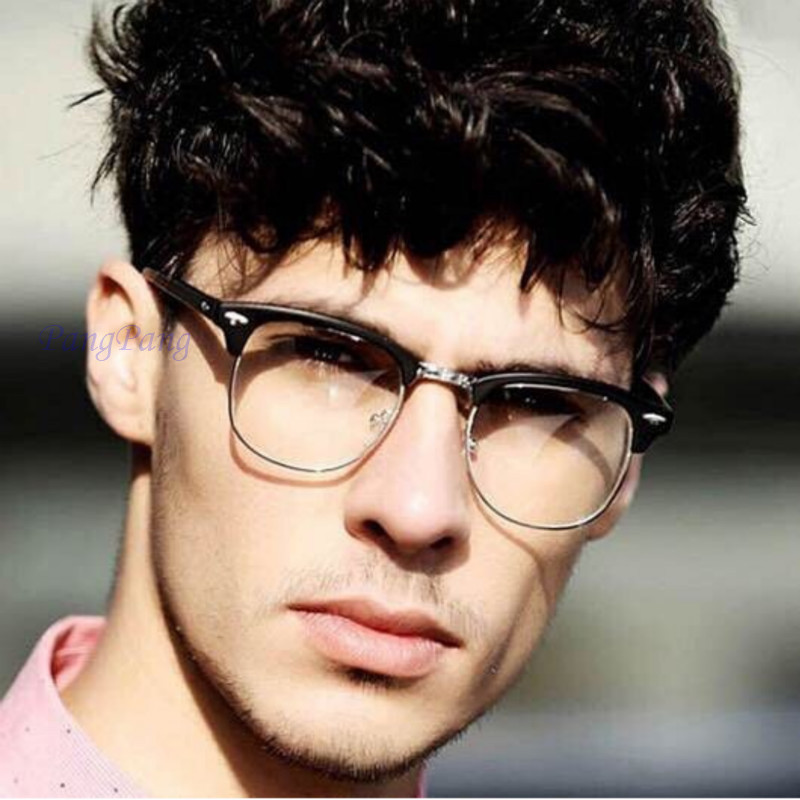 2019 Retro Anti Blue Light Glasses Men Computer Glasses Frame For Women Myopia Optical Clear Eye Glasses Frame Men Fake Glasses