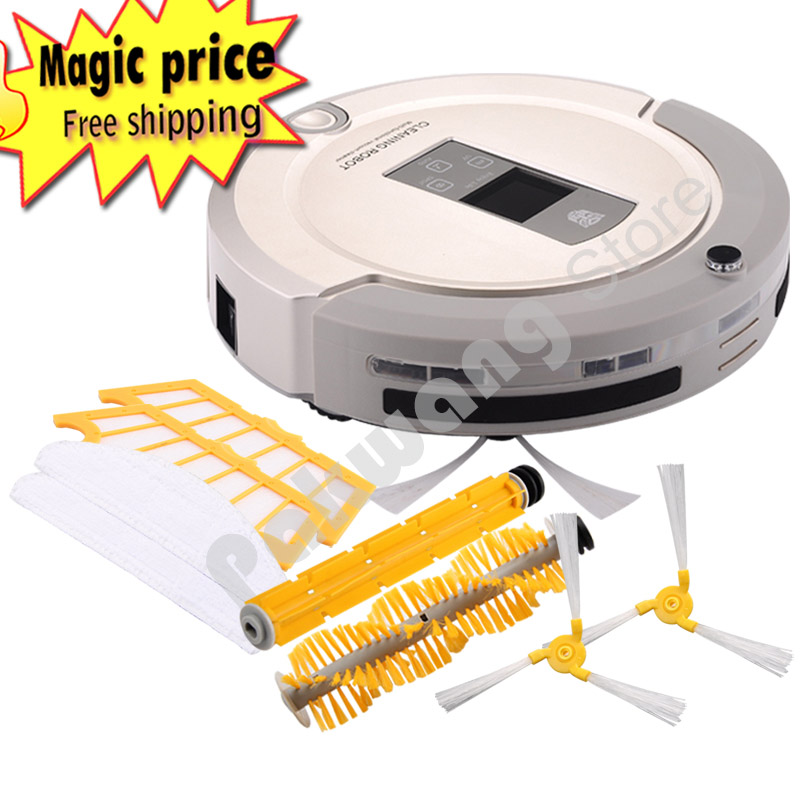 PAKWANG A325 Robot Vacuum Cleaner UV Sterilize Sweep Vacuum Dry Mop HEPA Filter LCD Touch Screen Schedule Vacuum Cleaner 2017 most advanced robot vacuum cleaner for home a325 sweep vacuum mop sterilize schedule intelligent home cleaner