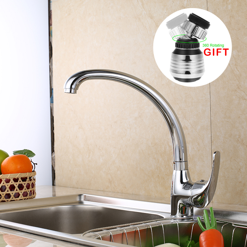 SHAI Kitchen Faucet 360 Degree Swivel Solid Brass Kitchen Mixer Cold and Hot Kitchen Tap Single Hole Water Tap Kitchen Faucets new solid brass kitchen mixer cold and hot faucet kitchen tap single hole water tap kitchen faucet 360 degree stainless steel