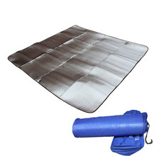 Hewolf Outdoor Plus Size Damp Proof Mat Camping Tent Sleeping Pad Thicken Aluminum Film Beach Picnic Pad, 200x200cm