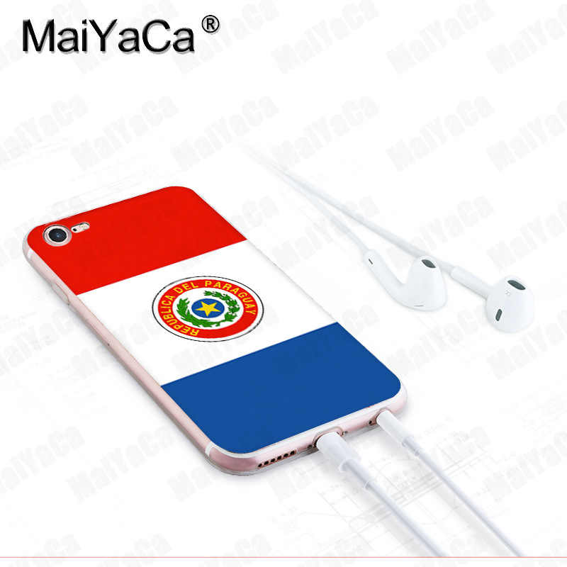 MaiYaCa สำหรับ iphone 7 6 X กรณี National flag โปแลนด์สวิตเซอร์แลนด์ปารากวัยโทรศัพท์สำหรับ iphone 8 7 6 6S Plus X 10 5 5S XS XR