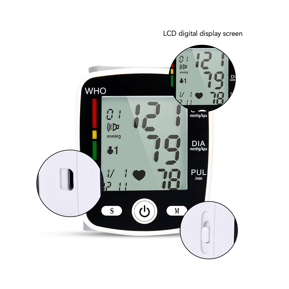 Image 4 - OLIECO Russian Broadcast Rechargeable Wrist Blood Pressure Monitor Automatic Digital Heart Rate PR Measure Meter Russian Voice-in Blood Pressure from Beauty & Health