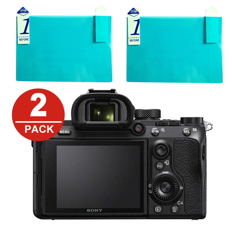 2x LCD Screen Protector Protection Film For Sony A7 II III A7S A7R IV A99 A9 A6300 A6000 A5000 A6400 NEX-7/6/5/3N/C3 A33 A35 A55