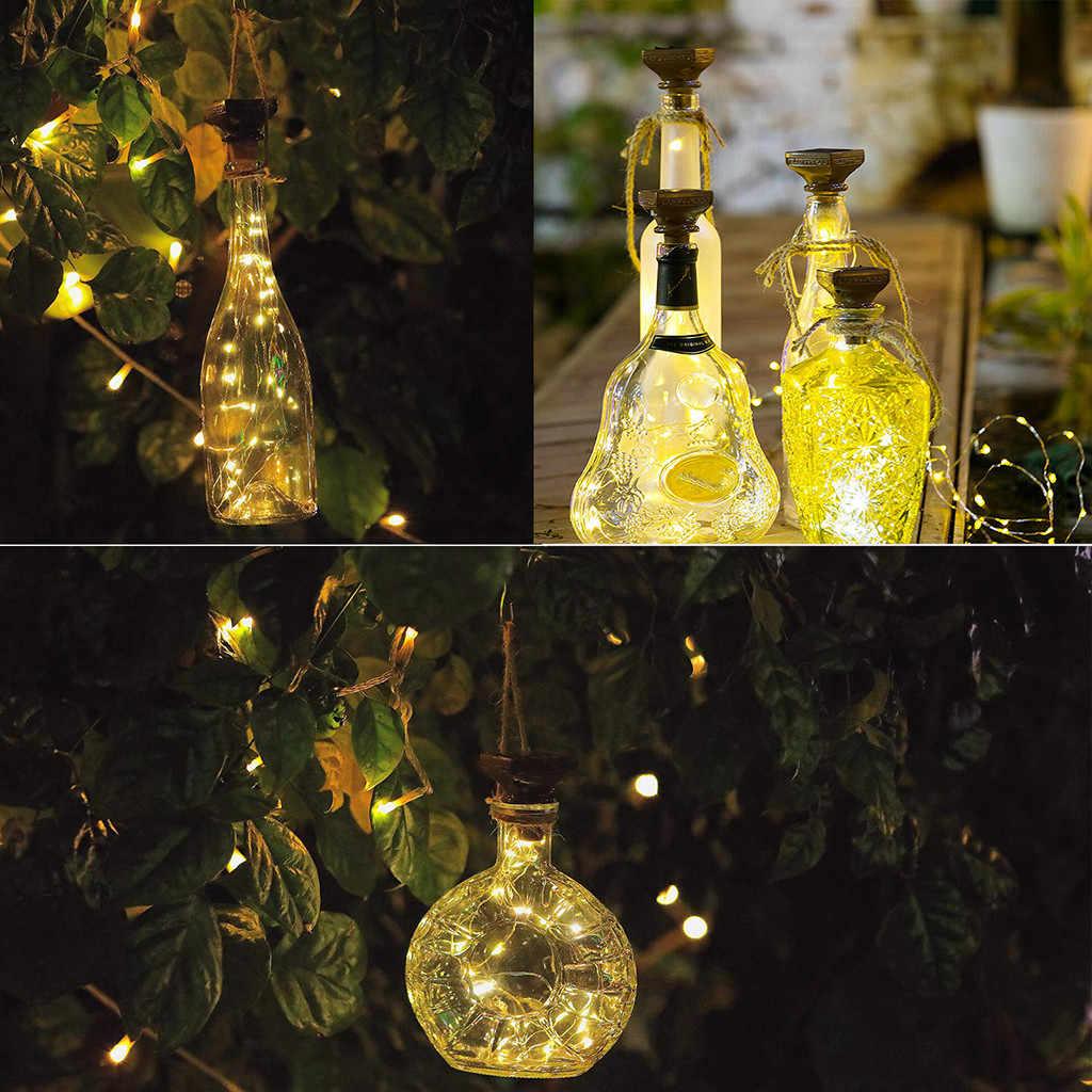 2019 Новинка 1 шт. Солнечная энергия в форме пробки светодиодный свет Звездное освещение винная бутылка, лампа Декор для дома Рождество Свадьба вечеринка украшение