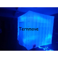Free Shipping Cheap Colorful Led Lights Inflatable Cube Tent Inflatable Square Tent Inflatable Lighting Photo Booth