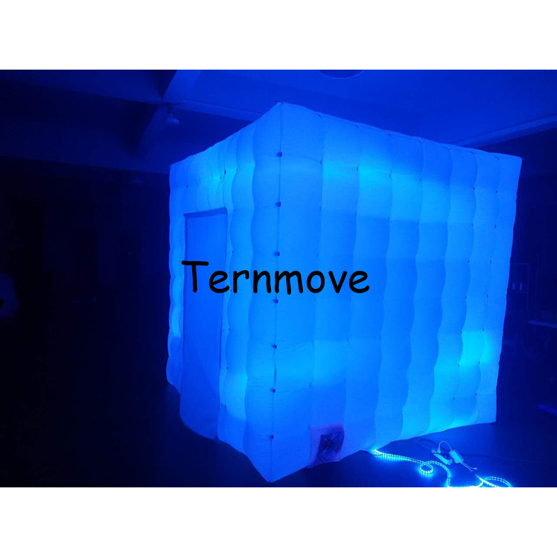 inflatable square tent free shipping cheap inflatable colorful led lighting photo booth Wonderful Cube Trade Show house Tent attractive advertising inflatable booth white or colorful inflatable cube tent