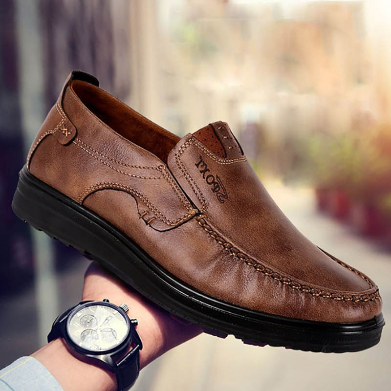 Chaussures 089 Confortable Noir Marron Pu Cosidram Sur Zapatos Cuir qwA5znW8T