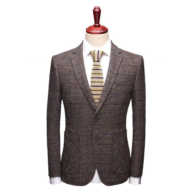 2018 Herbst Mäntel Herren Streifen Mode Klassische Hohe Qualität Blazer Männer Jacke, Männer Kaffee Farbe Casual Business-blazer