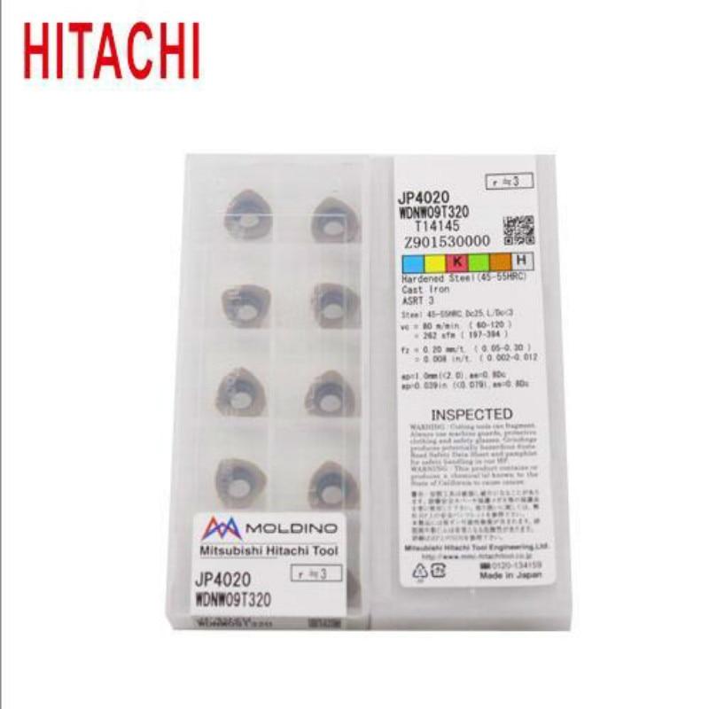 Original HITACHI WDNW09T320 JP4020 Carbide Inserts Milling Cutter WDNW 09T320 Lathe Tools Turning Tool CNC