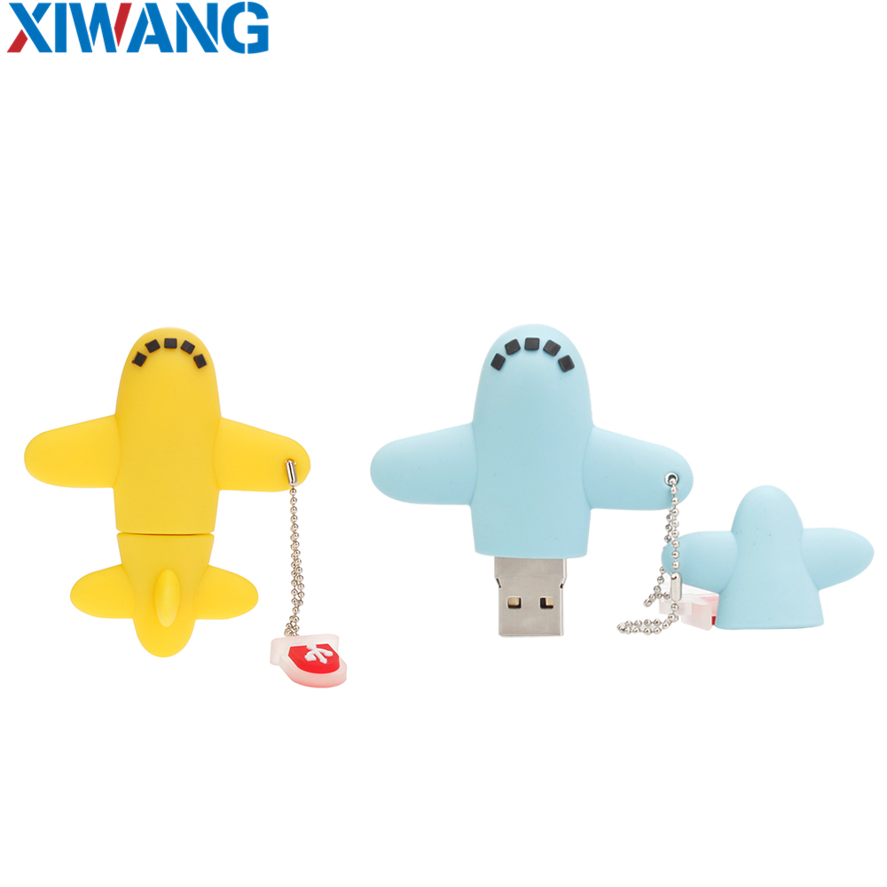 Image 2 - pen drive 16GB 8GB USB Flash Drive 128GB 64GB 32GB Cartoon mini aircraft pendrive Super cute USB 2.0 flash memory stick u disk-in USB Flash Drives from Computer & Office