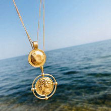 2018 Vintage Gold Color Carved Coin Necklace Figure Medal Long Chain Double Layered Necklace Pendant Personalized Women Choker(China)