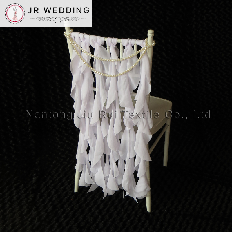 ruffle chair sashes wwe ppv chairs uk 100pcs free shipping colorful chiffon wedding sash 6ps set total600pcs ruffled for chiavari decoration in from home garden