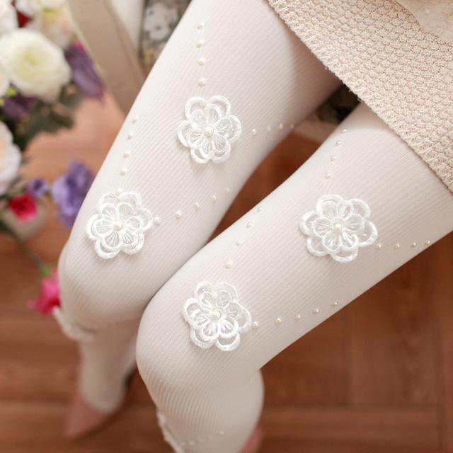 New Handmade 6pcs dimensional flower tights Ladies beautiful high quality tights