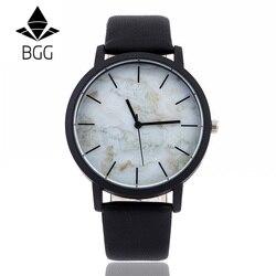Marbling Dial 2018 BGG Brand New Fashion Casual męskie zegarki wysokiej jakości zegarek kwarcowy mężczyźni zegar relogio masculino wodoodporny