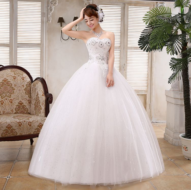 Wedding Gown Tops: S 2016 New Stock Women Plus Size Bridal Gown Wedding Dress