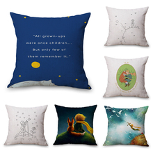 Le Petit Prince Fiction Neck Body Pillowcase Linen Bed Travel Pillows Cover Couch Seat Cushion Throw Pillow Home Decoration Gift