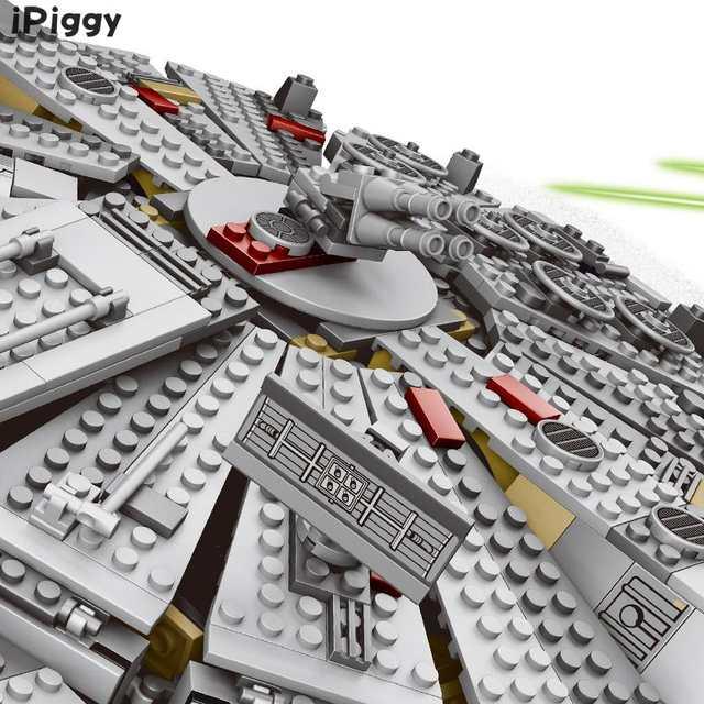 US $50 05 15% OFF|2018 New 1381pcs Factory Sale Price Millennium Falcon  Figure Star Wars Model Building Blocks Toys Compatible LegoINGLYS for  Kids-in