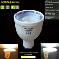 10PCS Mi Light 2 4G GU10 4W CCT Dual White LED Bulb Lamp Color Temperature Adjustable