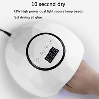 72W UV Lamp Gel LED Nail Lamp High Power For Nails All Gel Polish Nail Dryer Sensor Sun Led Light Nail Art Manicure Tools
